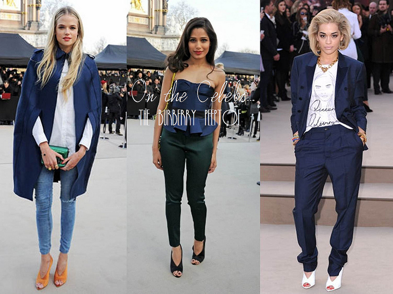 LFW AW13 Trends Burberry Celebrities Bumpkin Betty Fashion Blog