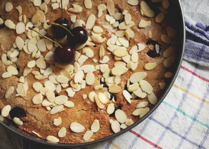 How to Make Cherry and Almond Spelt Cake, Bumpkin Betty