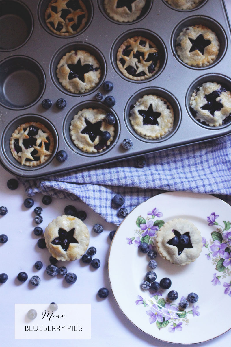 Mini Blueberry Pies (GBBO Link Up Week 5) - Jaclyn Ruth