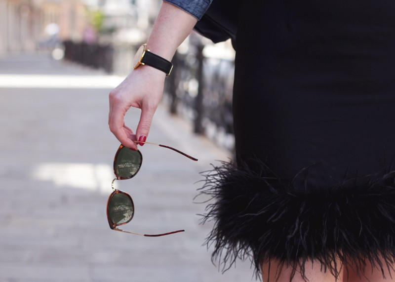 Feather skirts and statement sunglasses, Bumpkin Betty