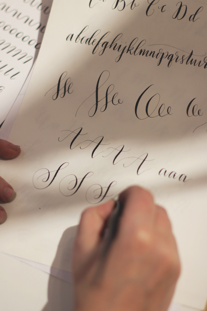 learning modern calligraphy with Quill London, Bumpkin Betty