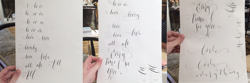 Imogen Owen calligraphy, Bumpkin Betty