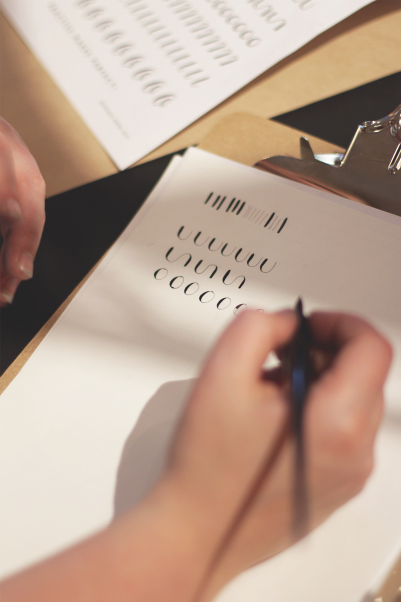 Modern Calligraphy workshops, Bumpkin Betty