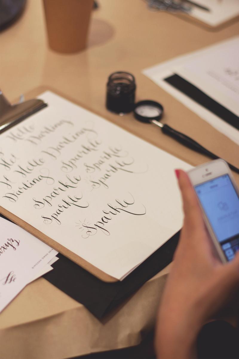 modern calligraphy guide, Bumpkin Betty