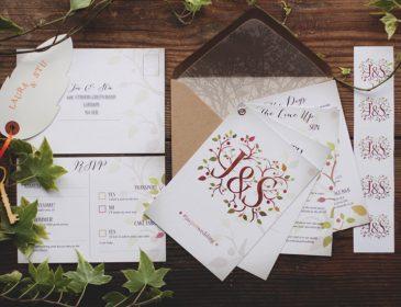Our wedding invites, Bumpkin Betty