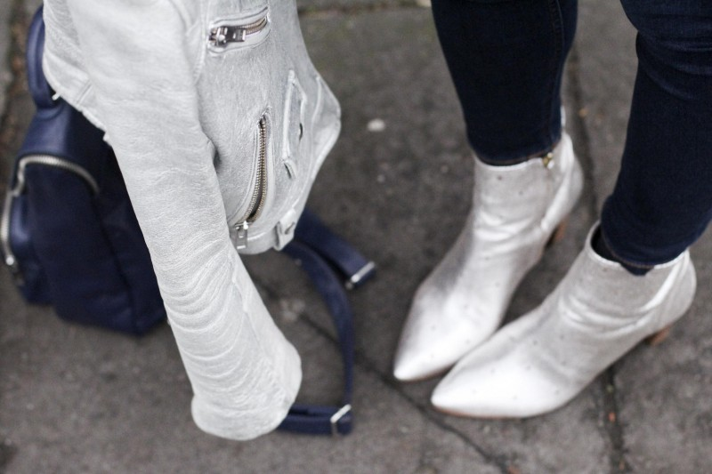 silver boots and silver jacket, Bumpkin Betty