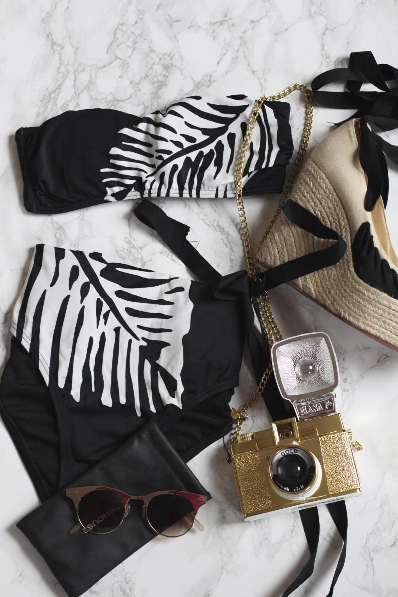 Victorias Secret palm print bikini, Bumpkin Betty