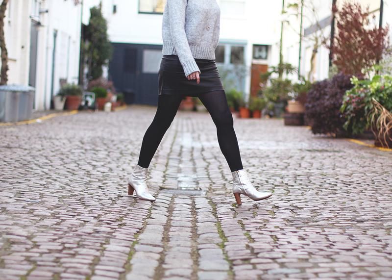 Boden silver boots, Bumpkin Betty