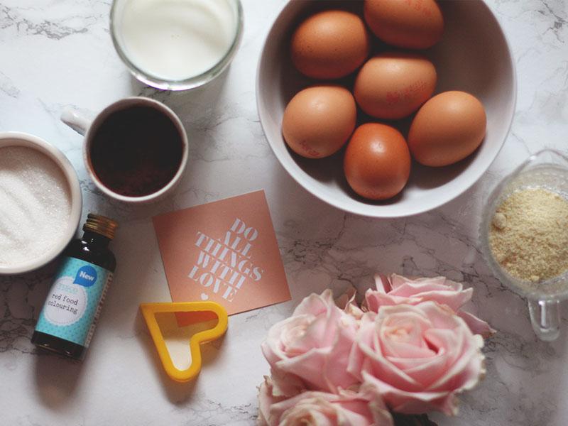 red velvet hidden heart cake recipe, Bumpkin Betty