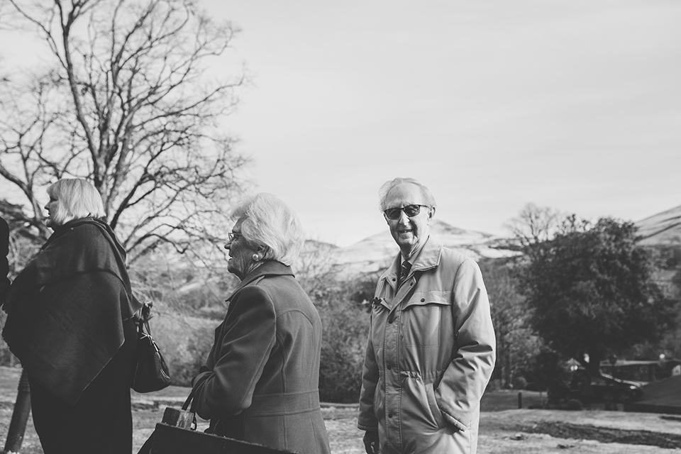 Winter wedding in Scotland, Bumpkin Betty
