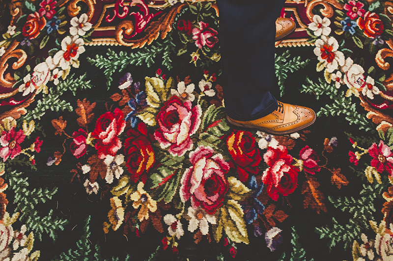 Vintage rugs for an outdoor wedding, Bumpkin Betty