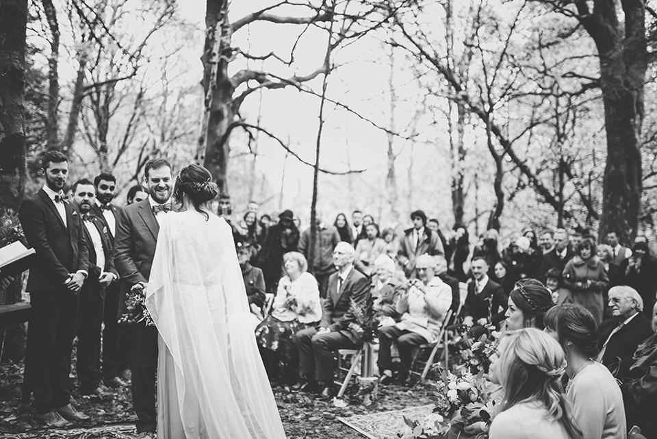 A wedding in the woods in Winter, Bumpkin betty