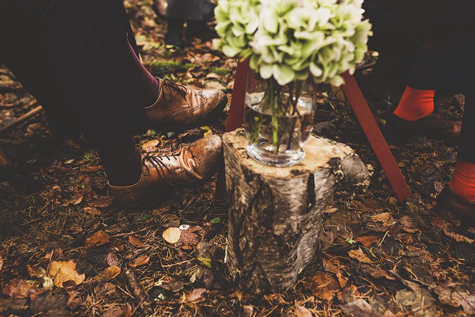 Woodland wedding in November, Bumpkin Betty