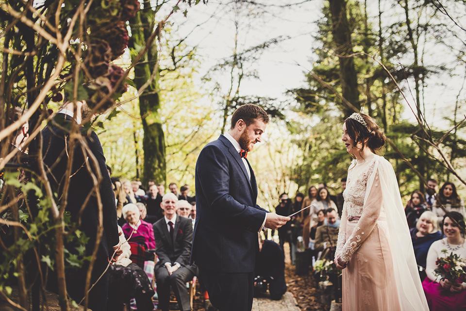 woodland wedding ceremony, Bumpkin Betty