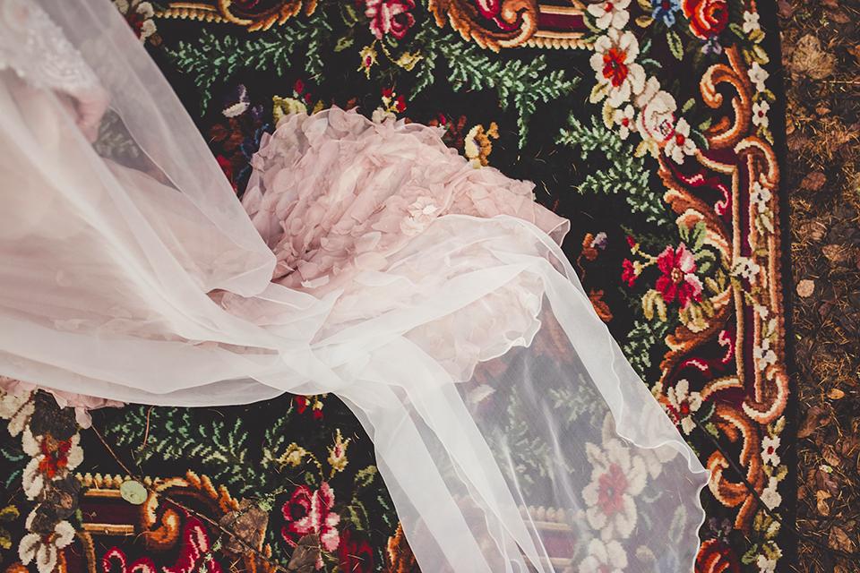 Dusky pink wedding dress, Bumpkin Betty