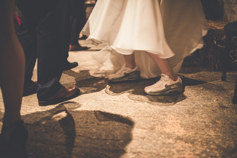 brides wearing trainers, Bumpkin Betty