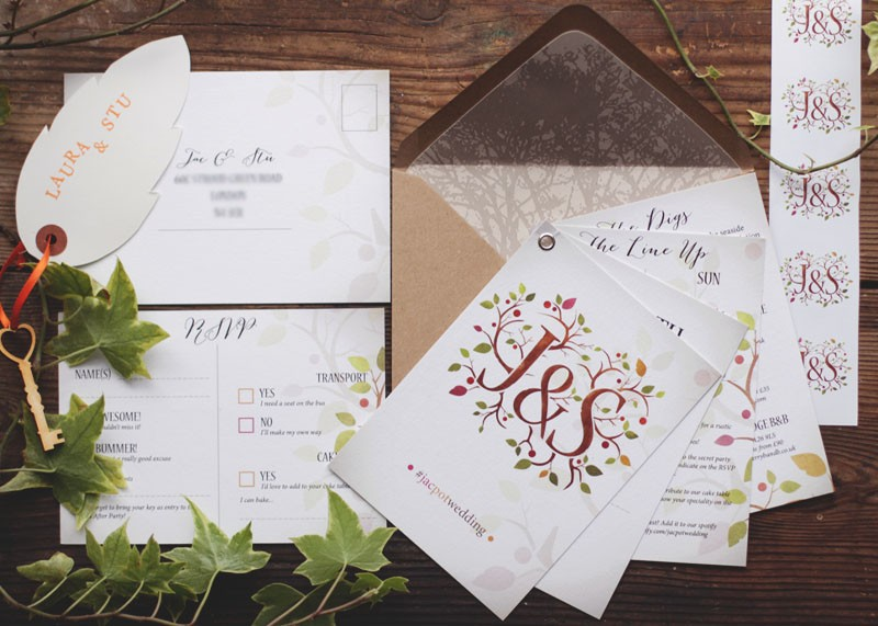 Our finished wedding invites, Bumpkin Betty