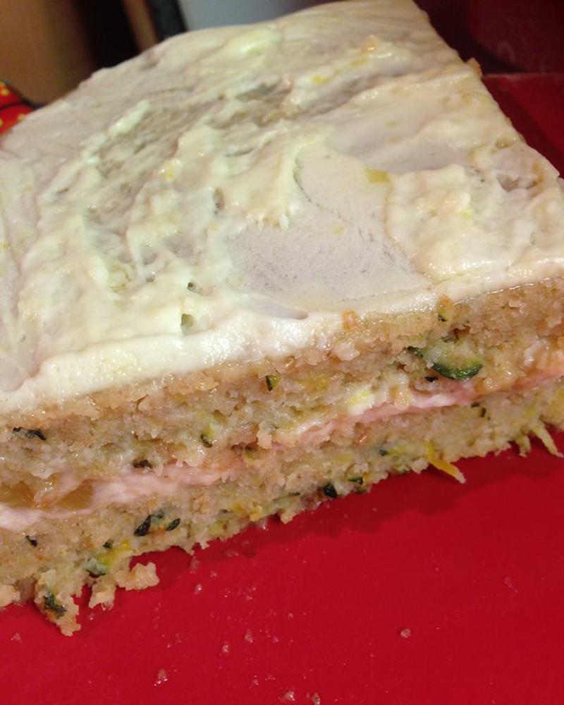 Courgette sponge cake, Bumpkin Betty
