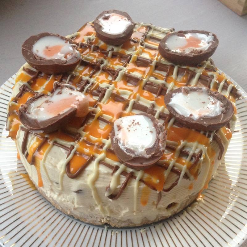 Creme Egg cake, Bumpkin Betty