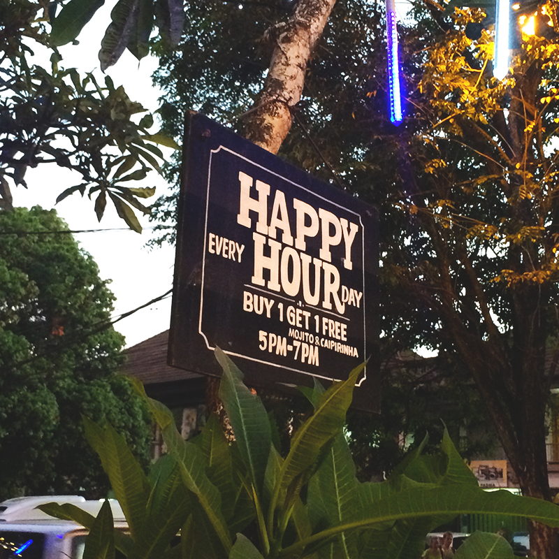 Happy Hour in Ubud, Bumpkin betty