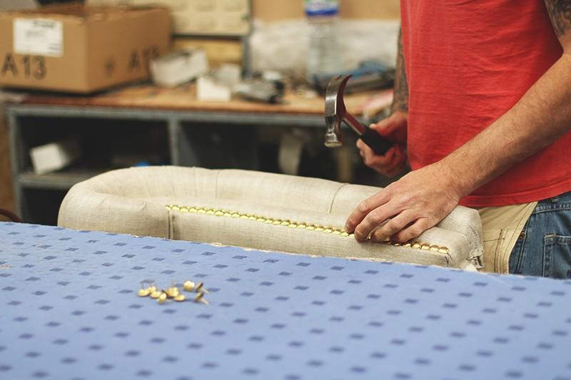 How the britannia sofa is made DFS, Bumpkin Betty