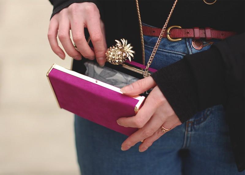 Zara pineapple clutch bag, Bumpkin Betty