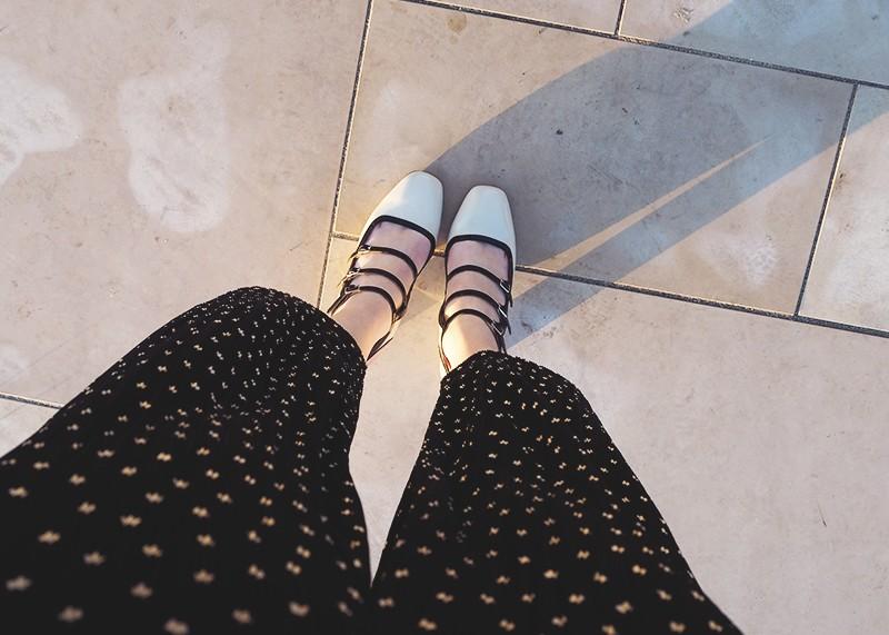 Topshop monochrome buckle shoes, Bumpkin betty