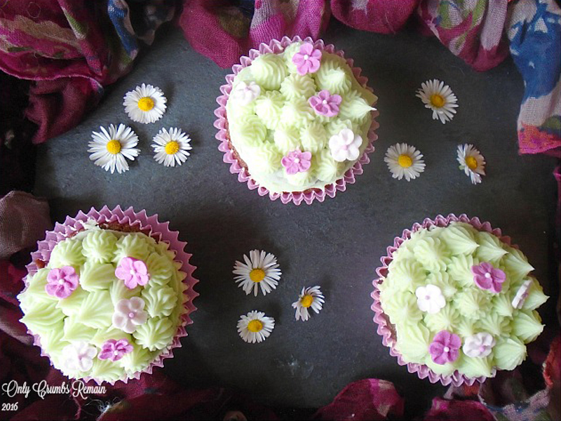 Daisy mint choc chip cupcakes, Bumpkin Betty