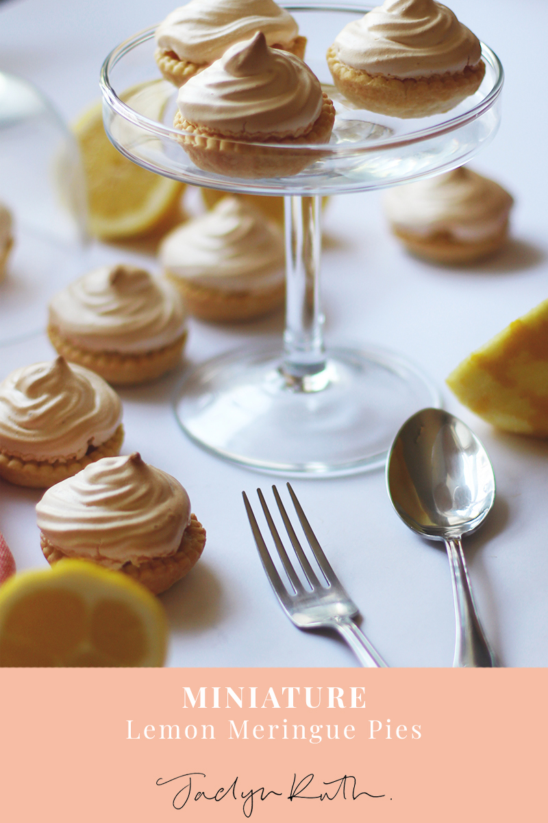 Mini lemon meringue tarts, Jaclyn Ruth