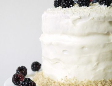 white choc and blackberry cake, Bumpkin Betty
