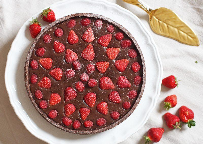 Chocolate Berry Tart recipe, Bumpkin Betty