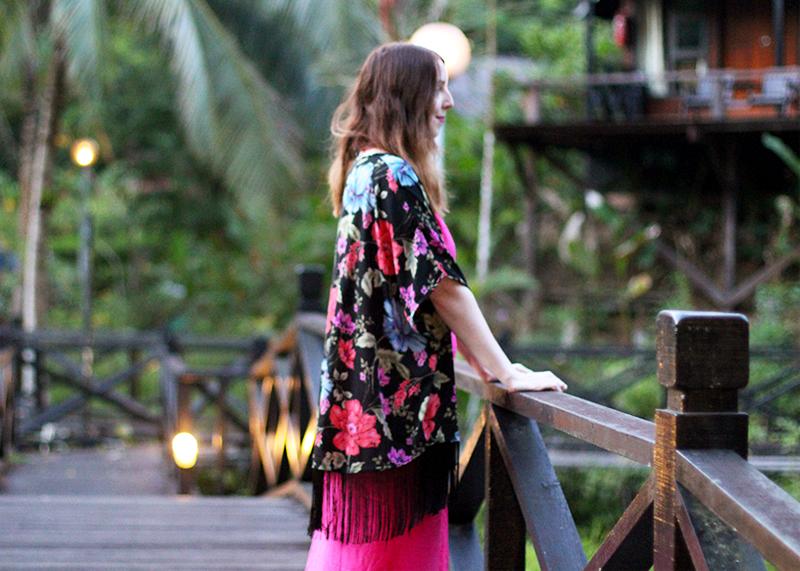 Floral fringed kimono, Bumpkin Betty