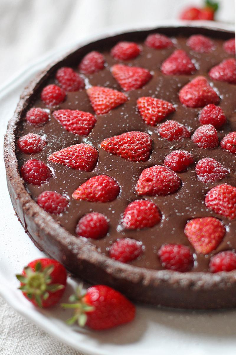 Gluten and dairy free chocolate tart, Bumpkin Betty