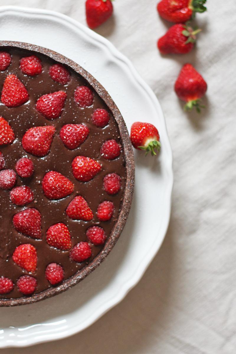 Gluten free chocolate tart recipe, Bumpkin Betty