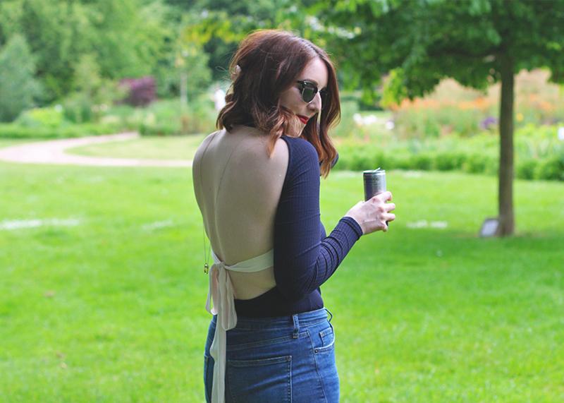 H&M backless bodysuit, Bumpkin Betty