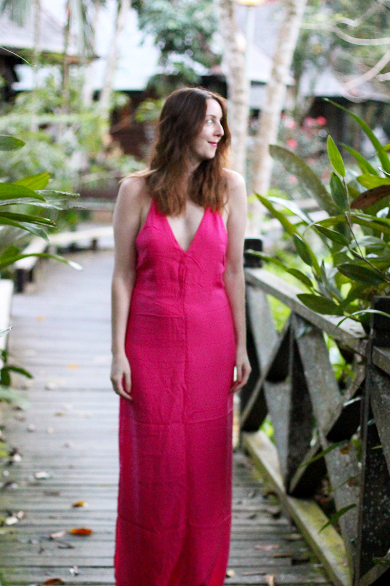 Pink maxi dress, Bumpkin Betty