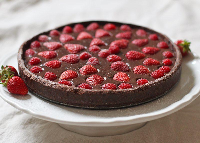 Strawberry and chocolate tart, Bumpkin Betty