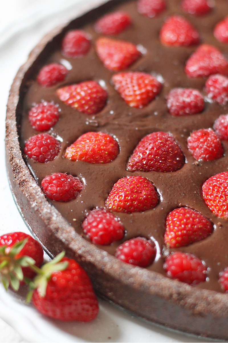 Strawberry chocolate tart, Bumpkin Betty