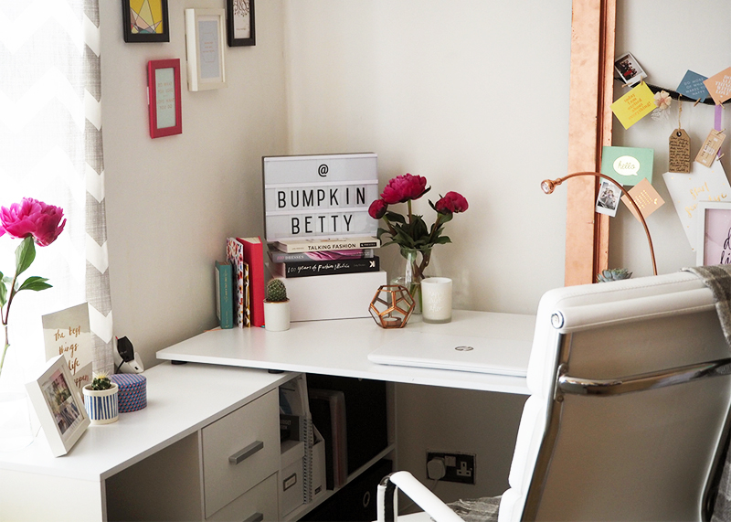 tips for revamping your desk space, Bumpkin betty