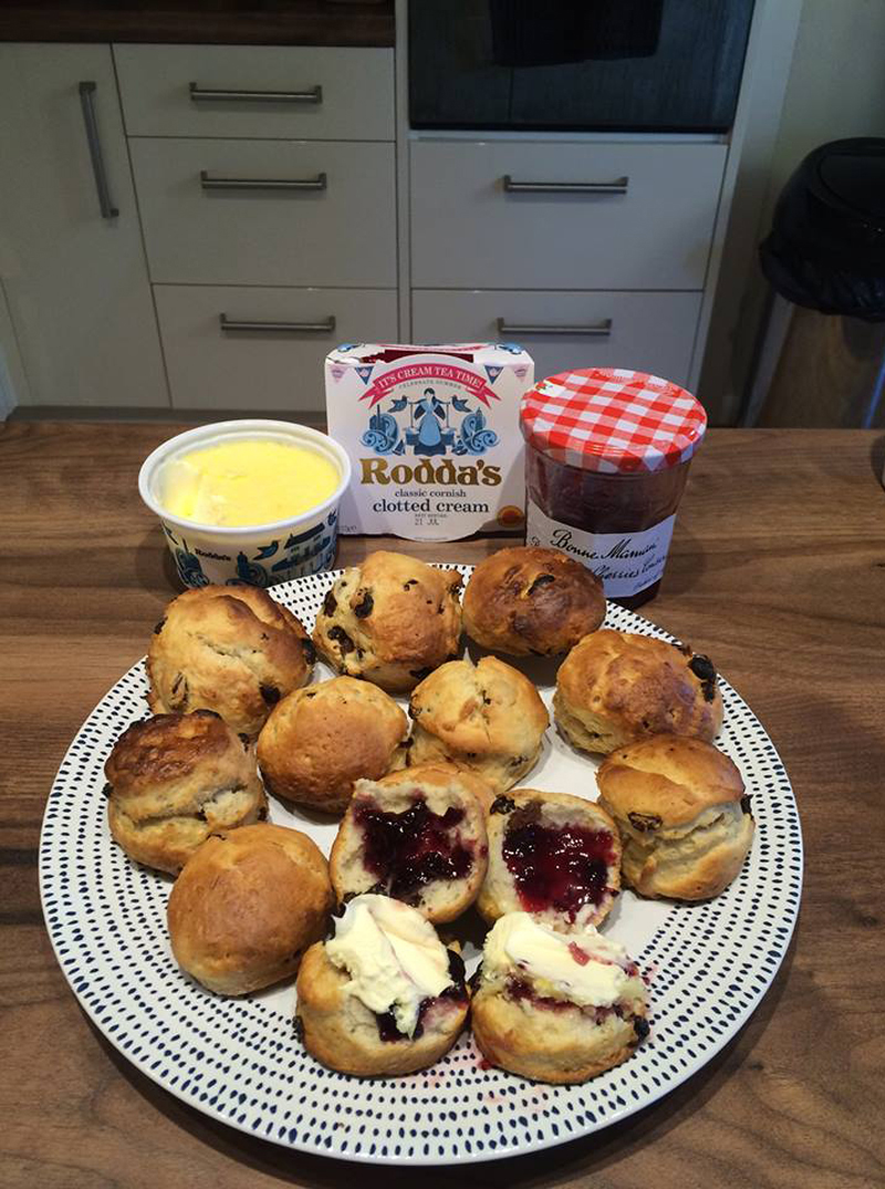 Scones and jam, BB Baking Club