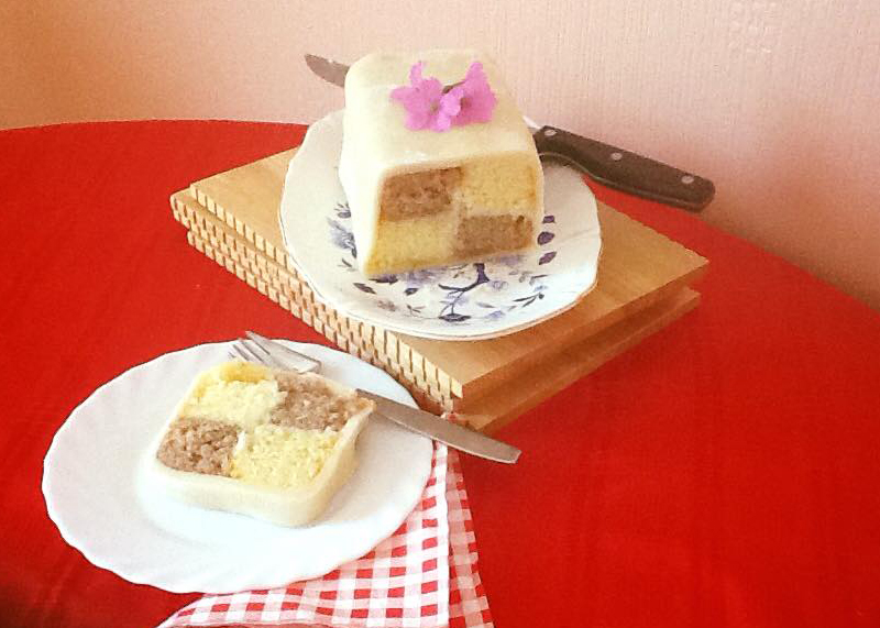 Hazelnut Battenburg, BB Baking Club