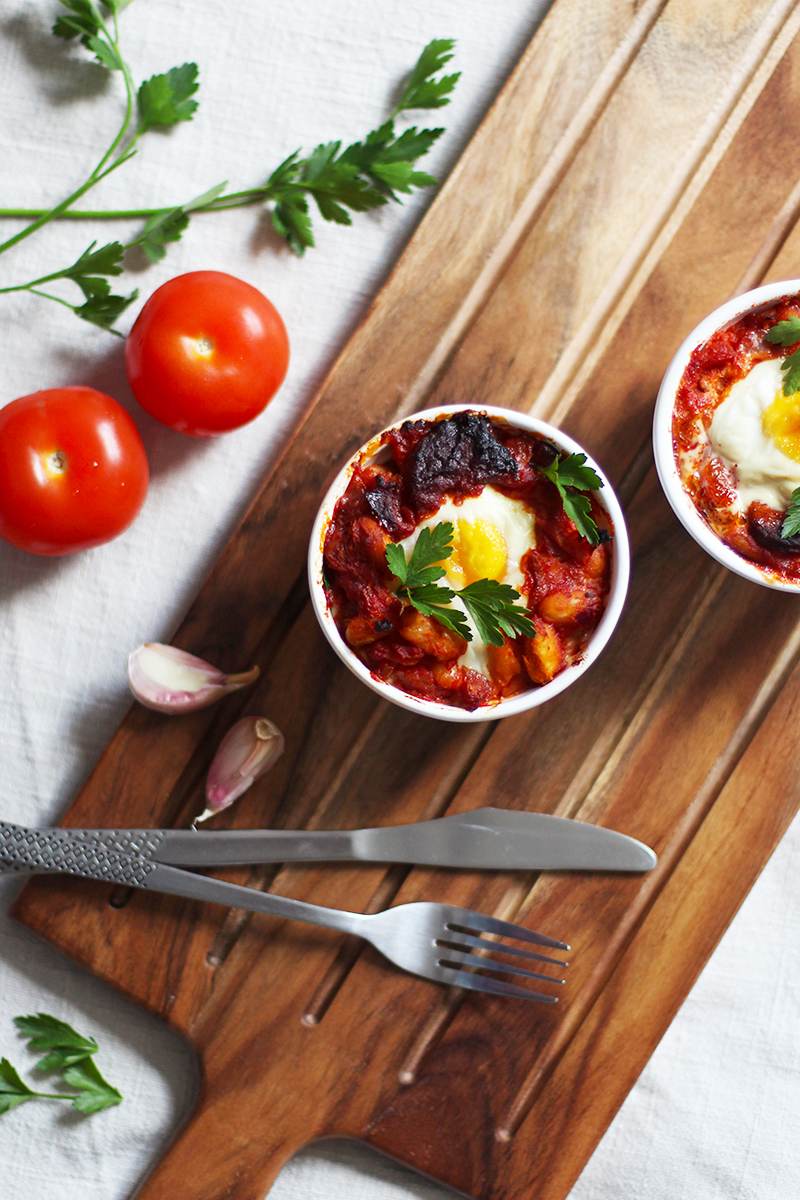 Spanish baked eggs recipe, Bumpkin Betty