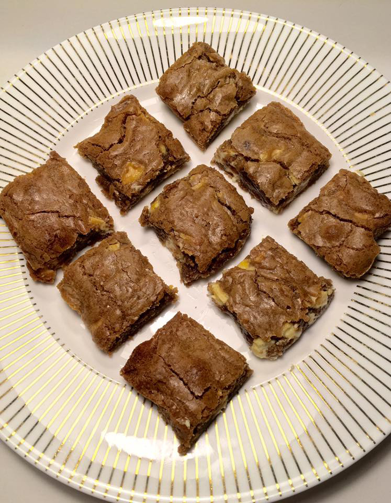 White chocolate blondies, BB Baking Club