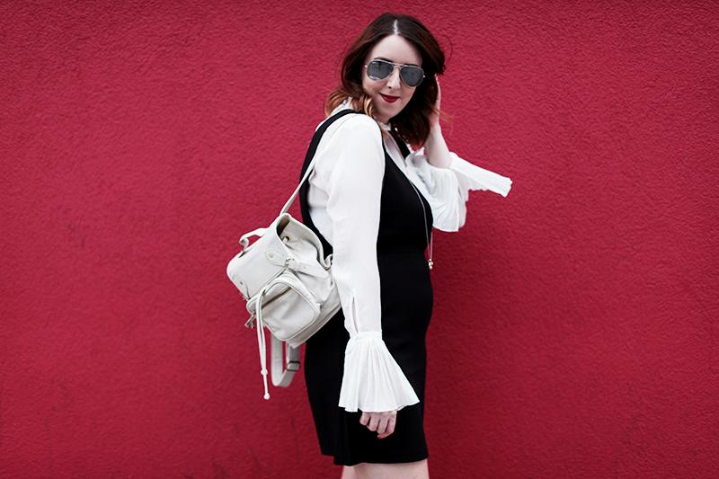 H&M flared sleeve blouse, Bumpkin Betty