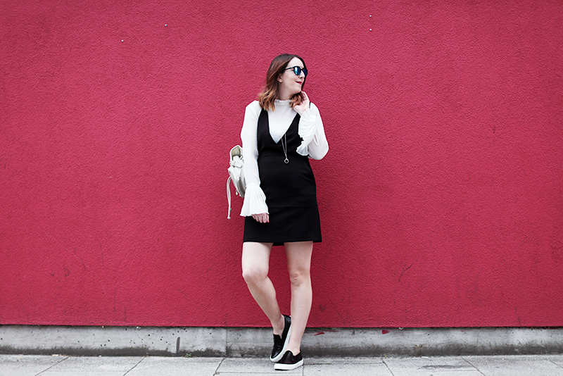 H&M pinafore dress, Bumpkin Betty
