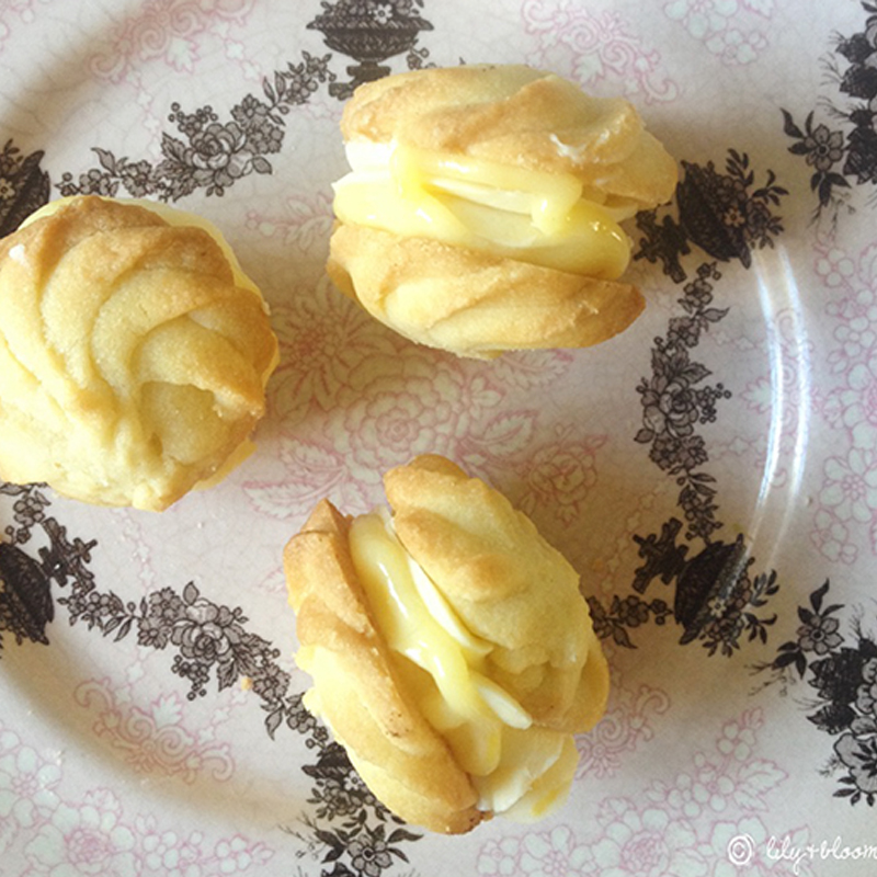 Lemon flavoured Viennese whirls, Bumpkin Betty Baking Club