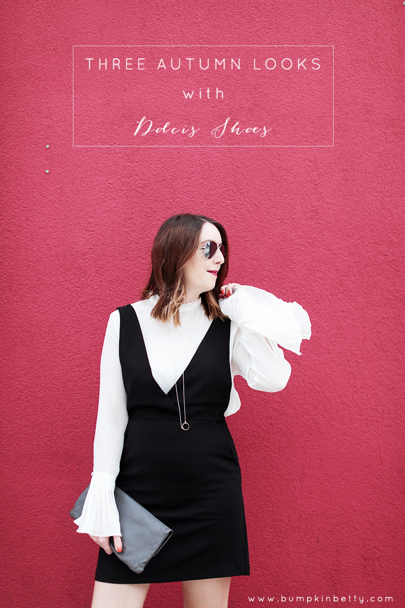 Three Autumn outfits with Dolcis Shoes, Bumpkin Betty