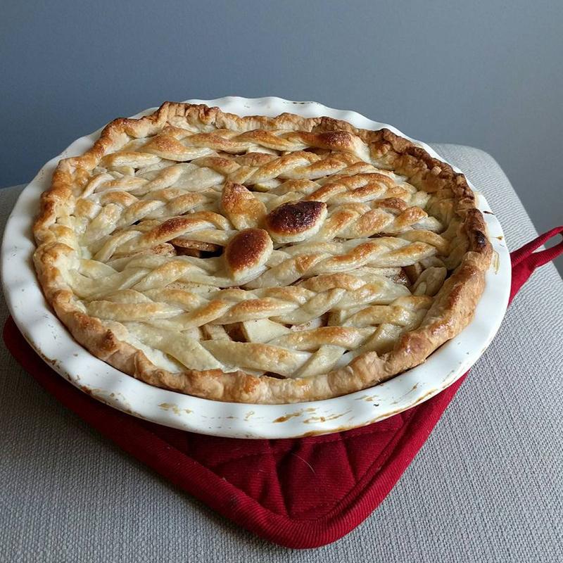 Fruit pie with lattice top, Bumpkin Betty Baking Club