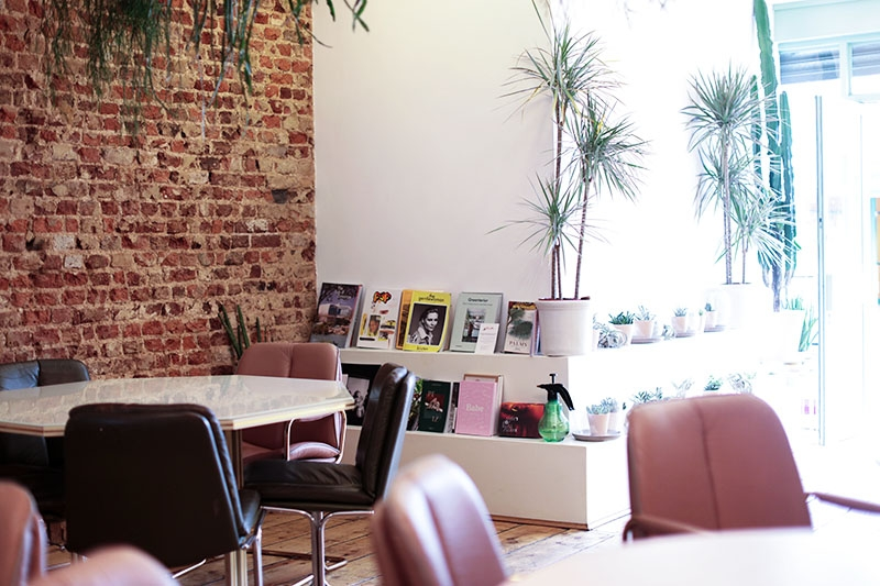 Pink themed cafes in London, Bumpkin Betty