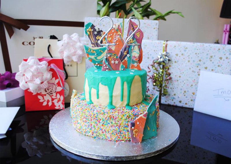 Rainbow sprinkle later cake, Bumpkin Betty Baking Club
